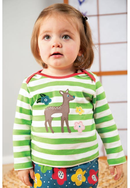 Buy Bobby Applique Top: Made From Organic Cotton | Frugi