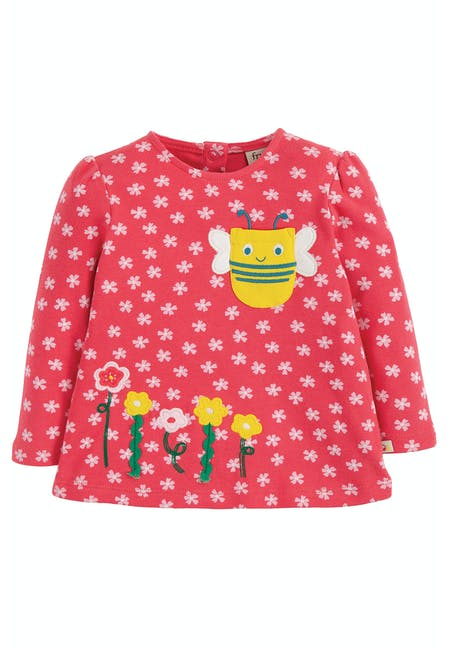 Buy Connie Applique Top: 1005 Organic Cotton | Frugi